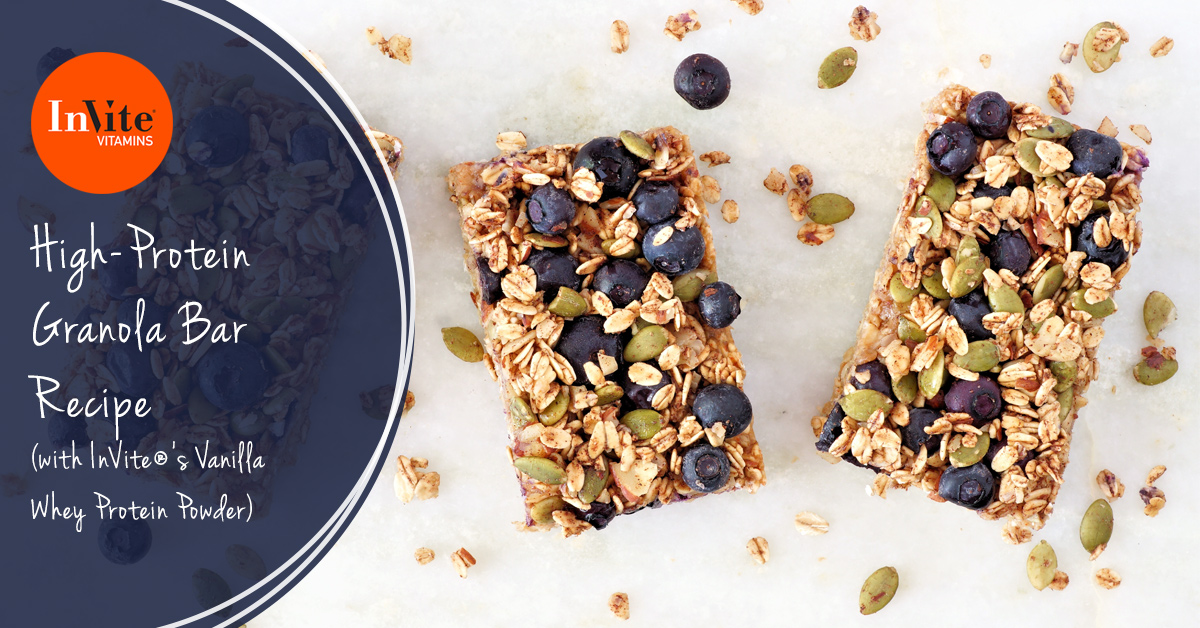 High-Protein Granola Bar Recipe with InVite® Whey Protein Powder