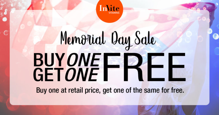 Memorial Day BOGO Sale is Going on Now!