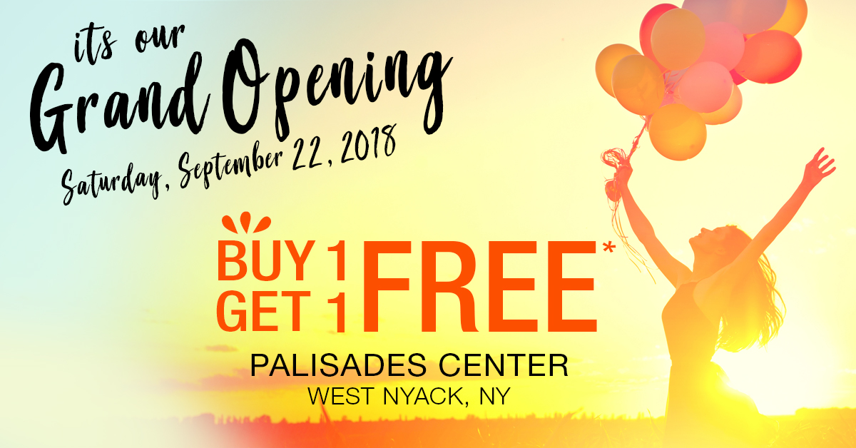 Our Grand Opening at the Palisades Center Mall in West Nyack, New York!